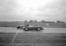 "Maserati 250F Marimon and Connaught Marr British GP 1954. 10x7"" photo"